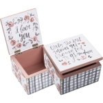 Only The Best Moms Get Promoted to Grandma Decorative Hinged Keepsake Box from Primitives by Kathy