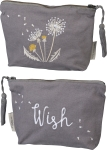 Dandelion Wish Zipper Travel Pouch by Artist Cathy Heck Studios from Primitives by Kathy