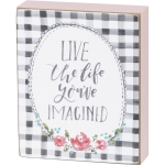 Live The Life You've Imagined Decorative Wooden Block Sign from Primitives by Kathy