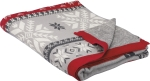 Snowflake & Deer Design Decorative Cotton Throw Blanket 50x60 from Primitives by Kathy