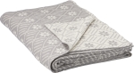 Neutral Palette Snowflake Pattern Decorative Cotton Throw Blanket 50x60 from Primitives by Kathy