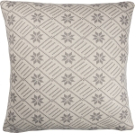 Cotton Knit Nordic Snowflake Throw Pillow 18x18 from Primitives by Kathy