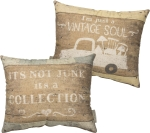 I'm Just A Vintage Soul Double Sided Cotton Throw Pillow 14x12 Primitives by Kathy