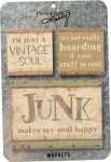 Vintage Soul Hoarding Junk Makes My Soul Happy Refrigerator Magnet Set from Primitives by Kathy