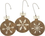 Wooden Snowflakes Ornament Set of 3 by Artist Phil Chapman from Primitives by Kathy