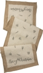 Cotton & Burlap Merry Christmas Table Runner Cloth 56x15 from Primitives by Kathy