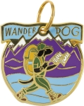 Wander Dog Collar Charm by Artist LOL Made You Smile from Primitives by Kathy