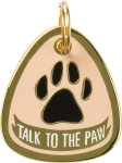 Talk To The Paw Hard Enamel Dog Collar Pet Charm On Card from Primitives by Kathy