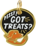 Pssst! Got Treats Dog Collar Charm by Artist LOL Made You Smile from Primitives by Kathy