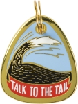 Talk To The Tail Hard Enamel Dog Collar Pet Charm from Primitives by Kathy