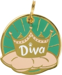 Diva Dog Collar Charm by Artist LOL Made You Smile from Primitives by Kathy