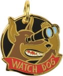 Watch Dog Hard Enamel Dog Collar Pet Charm from Primitives by Kathy