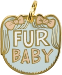 Fur Baby Hard Enamel Dog Collar Pet Charm from Primitives by Kathy