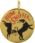Bum Sniffer Dog Collar Charm by Artist LOL Made You Smile from Primitives by Kathy
