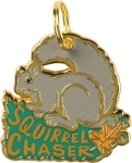 Squirrel Chaser Hard Enamel Dog Collar Pet Charm from Primitives by Kathy