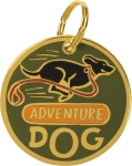 Adventure Dog Collar Charm by Artist LOL Made You Smile from Primitives by Kathy
