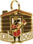 Cabin Dog Hard Enamel Dog Collar Pet Charm from Primitives by Kathy