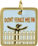 Don't Fence Me In Dog Collar Charm by Artist LOL Made You Smile from Primitives by Kathy