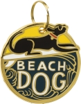Beach Dog Collar Charm by Artist LOL Made You Smile from Primitives by Kathy