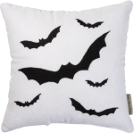 Bats Design Velvet Throw Pillow 12x12 by Artist Phil Chapman from Primitives by Kathy