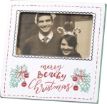 Merry Beachy Christmas Picture Photo Frame (Holds 5x3 Photo) from Primitives by Kathy