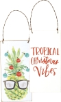 Pineapple Tropical Christmas Vibes Double Sided Hanging Ornament from Primitives by Kathy