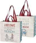 Christmas Is Better At The Beach Shopping Tote Bag from Primitives by Kathy