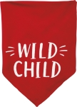 Small Red & White Wild Child Dog Pet Bandana from Primitives by Kathy