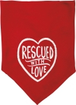 Small Rescued With Love Dog Bandana from Primitives by Kathy