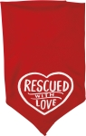 Dog Lover Rescued With Love Large Rayon Pet Bandana from Primitives by Kathy