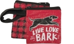 Live Love Bark Pet Waste Bag Pouch 3.5x3.5 from Primitives by Kathy