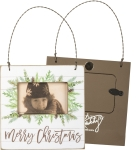 Pinecone Design Merry Christmas Decorative Mini Photo Picture Frame (Holds 3x2 Photo) from Primitives by Kathy