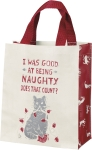 Cat Lover I Was Good At Being Naughty Daily Tote Bag from Primitives by Kathy