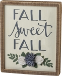 Fall Sweet Fall Decorative Inset Wooden Box Sign 10x12 from Primitives by Kathy