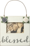 Floral Design Blessed Decorative Hanging Photo Picture Frame (Holds 3x2 Photo) from Primitives by Kathy