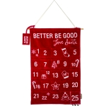 Better Be Good Love Santa Decorative Canvas Wall Banner Countdown Sign 18x28 from Primitives by Kathy