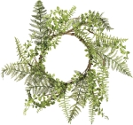 Farmhouse Style Mixed Greens Decorative Hanging Wreath 20 Inch Diameter from Primitives by Kathy