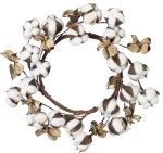 Cotton Candle Ring Farmhouse Style Decorative Wreath 12x12  from Primitives by Kathy