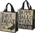 Double Sided Trick Or Treat Daily Tote Bag from Primitives by Kathy