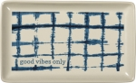 Good Vibes Only Decorative Stoneware Trinket Tray from Primitives by Kathy