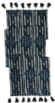 Indigo Dye Mudcloth Tassels Decorative Table Runner Cloth 56x15 from Primitives by Kathy