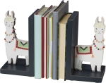 Llama Bookends Set by Artist Andie Hanna from Primitives by Kathy