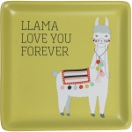 Llama Love You Forever Decorative Stoneware Trinket Tray from Primitives by Kathy