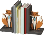 Foxes Decorative Wooden Bookends Set by Artist Andie Hanna from Primitives by Kathy