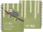 Sloth Say No To Doing Things Double Sided Spiral Notebook (120 Lined Pages) from Primitives by Kathy