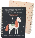 Always Be Yourself Unless You Can Be A Unicorn Spiral Notebook (120 Lined Pages) from Primitives by Kathy