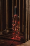 Brushed Metal Wine Stopper With Red LED Lights from Primitives by Kathy