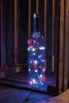Brushed Metal Wine Stopper With Red White & Blue Lights from Primitives by Kathy
