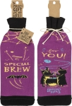 Special Brew For You Wine Bottle Sock Holder from Primitives by Kathy