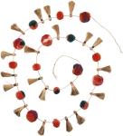 Bohemian Style Pom Pom And Tassels Garland 72 Inch from Primitives by Kathy